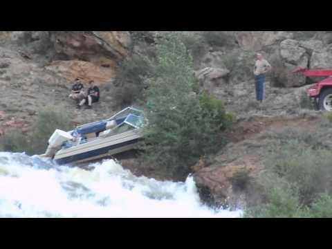 Boat over the spillway tarryall reservoir youtube for Tarryall reservoir fishing report