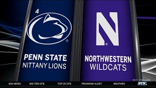 Penn State at Northwestern - Football Highlights