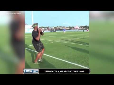 Cam Newton Makes 'Deflategate' Joke Aimed At Tom Brady