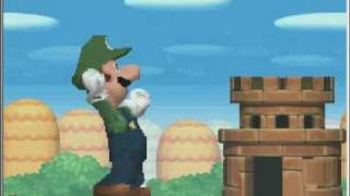 New SUPER MARIO BROS. DS Starting the game with Luigi
