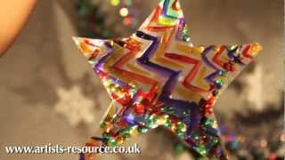 How To Make A Christmas Tree Star Hanging Decoration