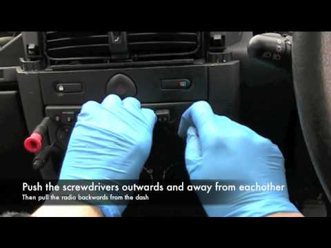 Renault Cilo Radio Removal