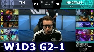 TSM vs Immortals Game 1 | S7 NA LCS Spring 2017 Week 1 Day 3 | TSM vs IMT G1 W1D3 1080p