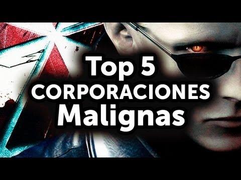 Top 5 de Corporaciones Malignas en juegos