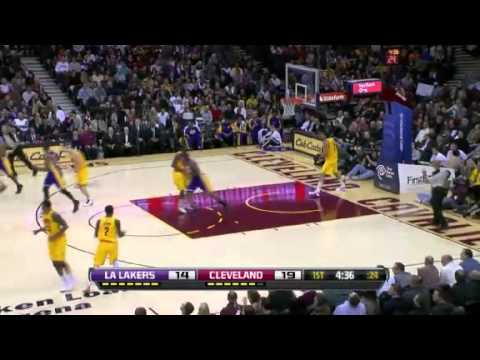 Los Angeles Lakers vs. Cleveland Cavaliers First Half Highlights 11 December 2012