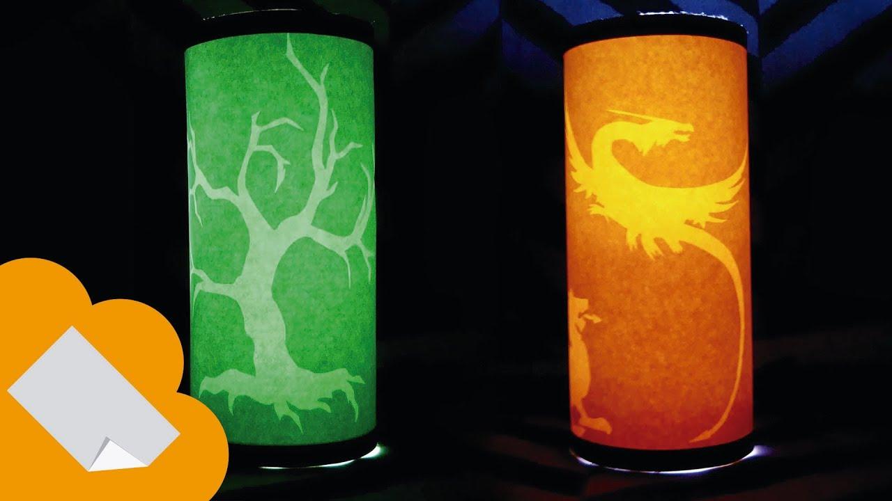 Como hacer lamparas de papel con figuras ocultas paper - Como hacer una lampara de mesa ...