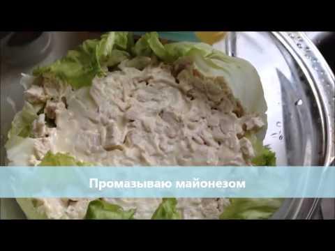 Кулинарный рецепт слоеный салат Тиффани
