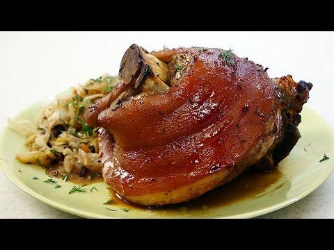 Рецепт рулька свиная с капустой
