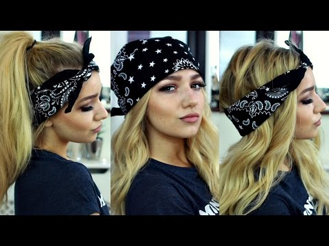 How to wear a bandana in different styles pia mia kylie jenner inspired bandana hairstyles hair tutorial urmus Gallery