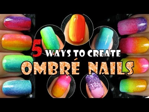 Rainbow Ombre Nails Ombre Nails 5 Ways to