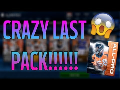 TOP 5 WR IN THE NFL PULLED IN MY LAST PACK?!? MM18  PRO PACK BUNDLE + ALL PRO PACK OPENING!!!