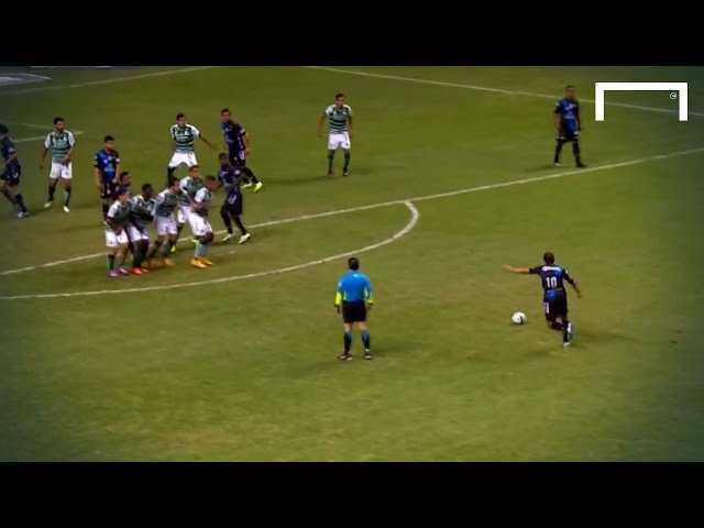 Still got it! 41-year-old Blanco scores free-kick