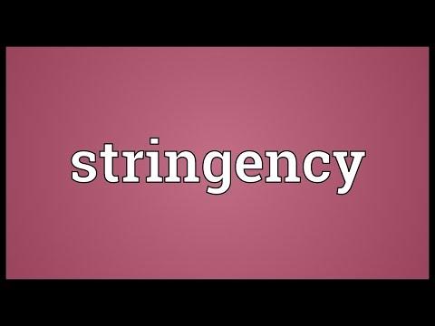 Header of stringency