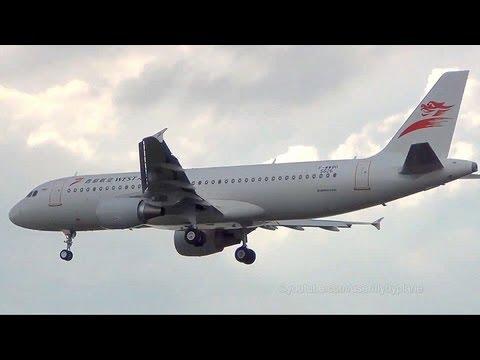[First Flight] China West Air A320 (B-9949) Landing with RAT @ Hamburg-Finkenwerder
