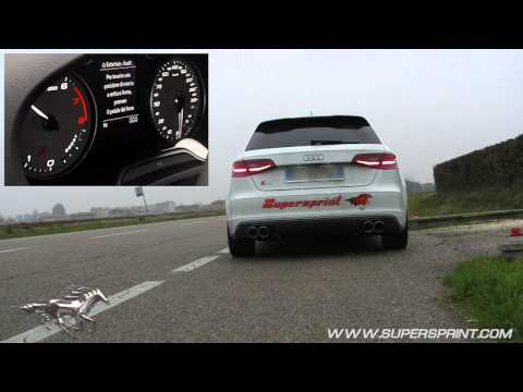 Audi S3 8V / 8VA 2013 sound with full Supersprint exhaust
