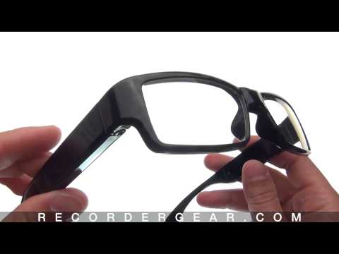 Slim Frame Black 720P Camera Glasses CG200