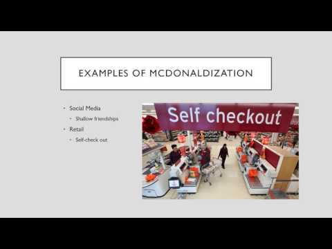 an introduction to the issue of mcdonaldization of society