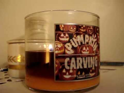 Bath and Body Works Candle Review: Pumpkin Carving (2013)