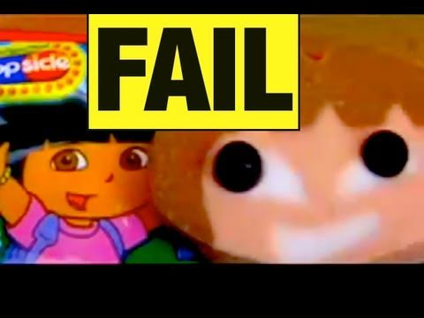 FAIL Dora the Explorer POPS Fail Funny Video Food Review Mike Mozart of JeepersMedia on You Tube