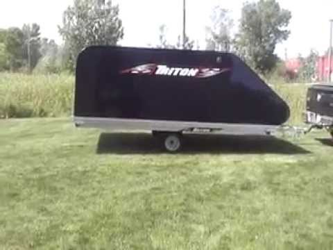 Aluminum Enclosed Trailers For Sale >> Triton XT12 101 Aluminum Tilt Bed Snowmobile Trailer Enclosed - YouTube