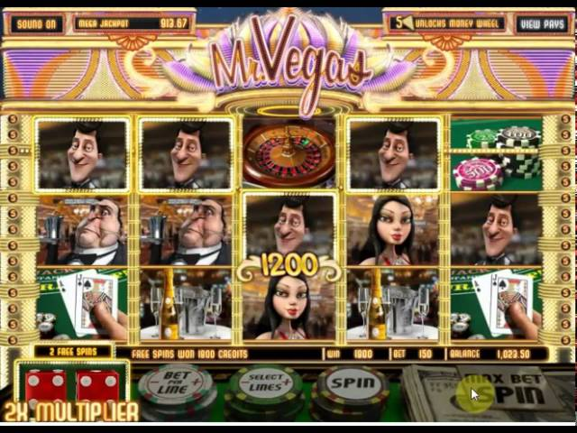 Playing 3D Slot Mr.Vegas by BetSoftGaming.com