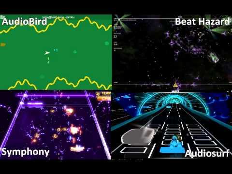 audiobird vs Beat Hazard vs Symphony vs Audiosurf