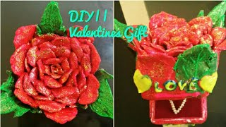 DIY   How to make Valentines day Gift box using waste material    Valentines Surprise box