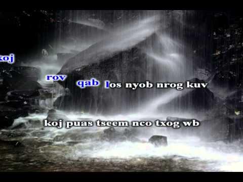 Koungla Vang -  Kuv Nco Koj (karaoke) video