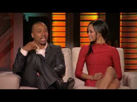 Lopez Tonight Zoe Saldana & Columbus Short (4212010)