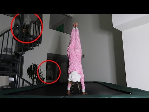 DO NOT TRY GYMNASTICS ON A TRAMPOLINE AT 3AM CHALLENGE! (REAL GHOST NOT CLICKBAIT)