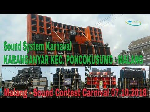 Sound Karnaval Karanganyar Kec. Poncokusumo || Sound Contest Carnival - Malang 07.10.2018