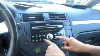 Ford C-MAX Sony Autoradio Uhrzeit einstellen