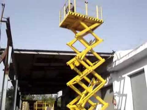 Use of  Hydraulic scissor lift platform. Goods lift. by Technical Enterprises. www.handyindia.com