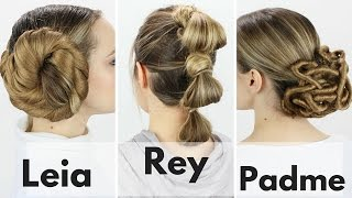 3 Iconic Star Wars Hairstyles Tutorial!