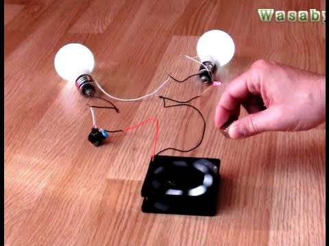 Free Energy Magnet Motor fan as Free Energy Generator for light bulb  | WasabySajado thumbnail