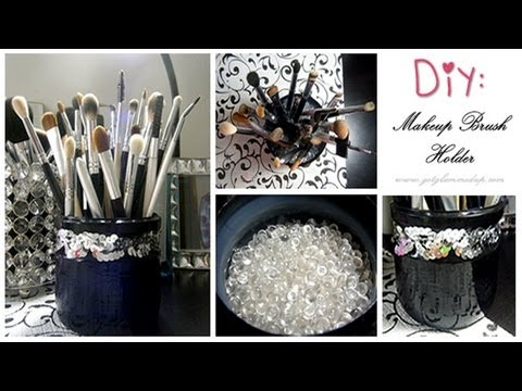 DIY: Custom Makeup Brush Holder (Easy & Cheap!)