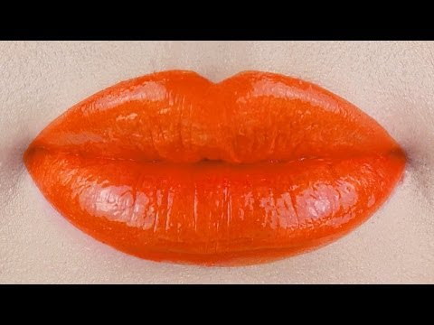 Orange Lipstick Tutorial! DIY LIPGLOSS!