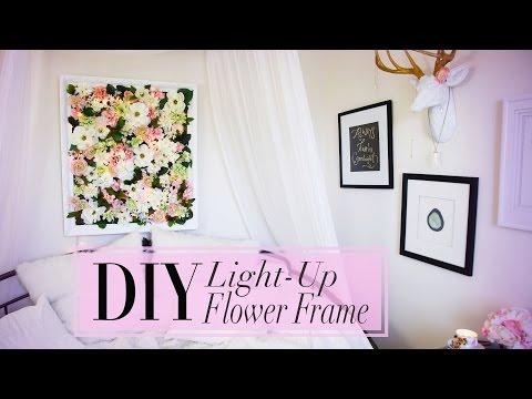 DIY Light-Up Flower Frame Room Decor (Mother's Day Gift Idea) | ANNEORSHINE
