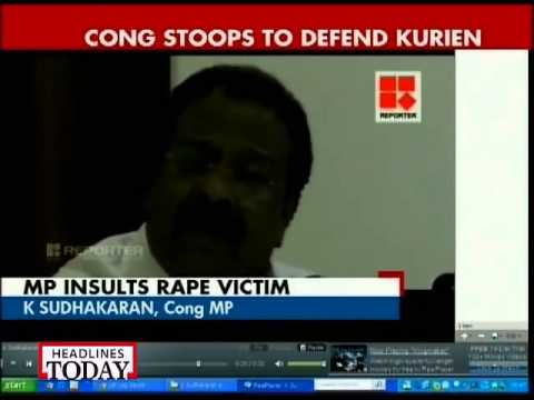 Suryanelli Case: Kerala Cong Mp Calls Rape Survivor Prostitute video