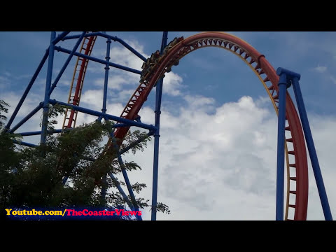 Superman Ultimate Flight! Front (HD POV) Six Flags Discovery Kingdom California