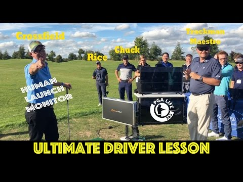 Live Golf Driver Lesson - Featuring Mark Crossfield. Trackman Maestro. Andrew Rice & Martin Chuck
