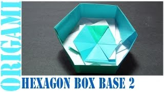 Origami Daily - 441: Hexagon Box Base Ver. 2 - Tcgames [hd]