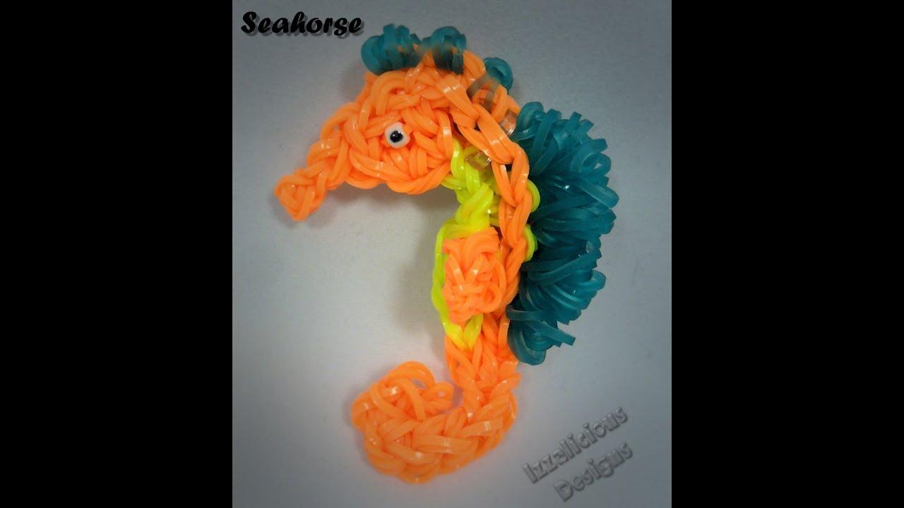 Rainbow Loom Seahorse Animal Figure Charm Tutorial Youtube
