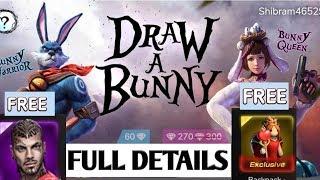 DRAW A BUNNY Event Full Details And Free Dress, Character Ect || Full Hindi || By :- SR GAMING TIPS