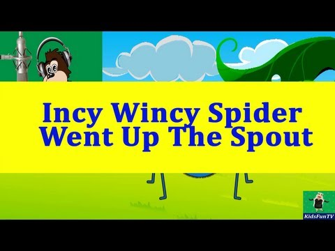 Nursery Rhymes By Kids | Incy Wincy Spider From Usa | Animated Kids Songs With Lyrics By Kidsfun Tv video