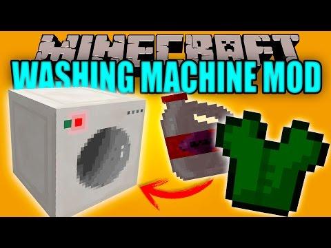WASHING MACHINE MOD - Lava tu Ropa oe Cochino!!! - Minecraft mod 1.6.4 Review