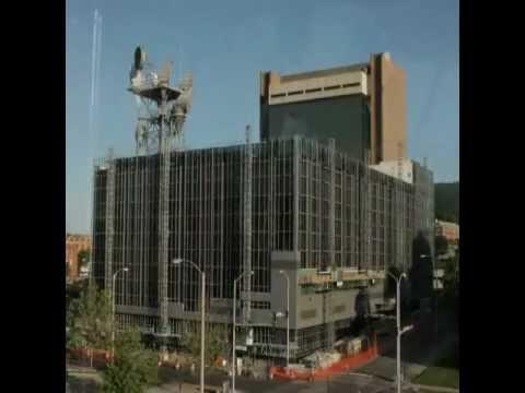 American Door & Glass, S. W. Virginia, Inc. panel installation Verizon Building downtown Roanoke VA