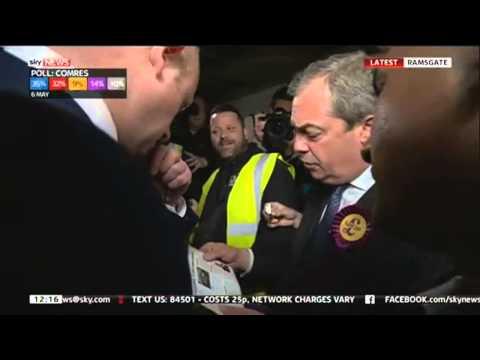 Nigel Farage Given Hard Time By Ramsgate Voters In Ramsgate