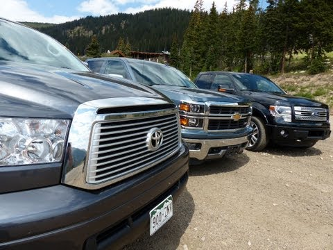 2013 Toyota Tundra takes on Ford, Chevy & the Ike Gauntlet Mashup Towing Test ( Episode 1 )