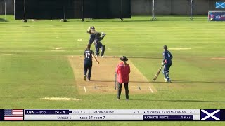 ICC T20WC Qualifier: SCO v USA – Match highlights